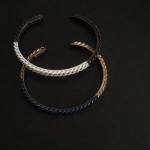 Madewell chain link cuff bracelet set